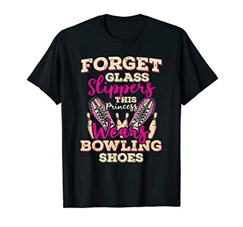 This Princess Wears Bowling Shoes Funny Women Bowler Shirt