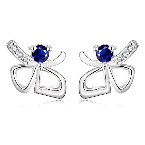 Rose Gold Earrings Womens Jewelry Butterfuly Red Crystal Earrings For Womens Stud Dangle Earrings