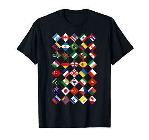 (Flags of the Countries of the World,International Gift Shirt )