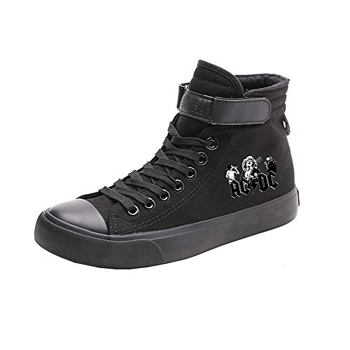 Acdc Alta Estudiantes Canvas Transpirables Zapatos Con Puros Popular Ayuda Colores Casual De Cordones Black04 r0xrFX