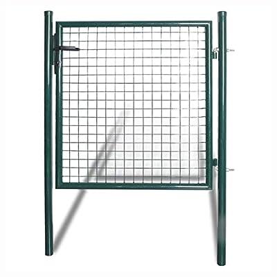 K&A Company Gate, Single Door Fence Gate Powder-Coated Steel
