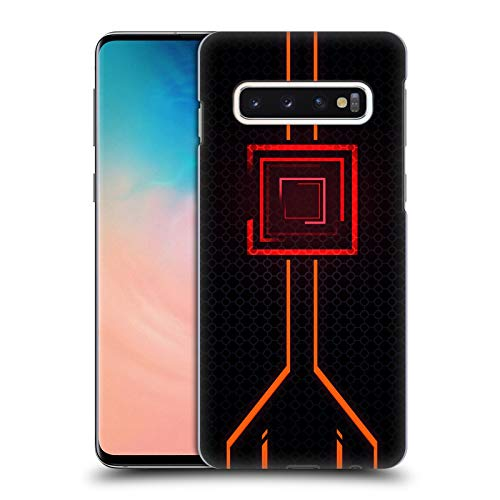 Official Alyn Spiller Orange Neon Hard Back Case for Samsung Galaxy S10