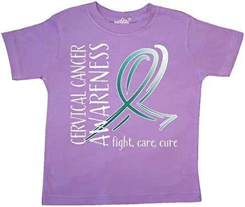 inktastic Cervical Cancer Awareness- Fight, Care, Cure Toddler T-Shirt