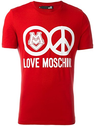MOSCHINO Love Peace Circle Logo T-Shirt, Red (XL) by MOSCHINO (Image #6)
