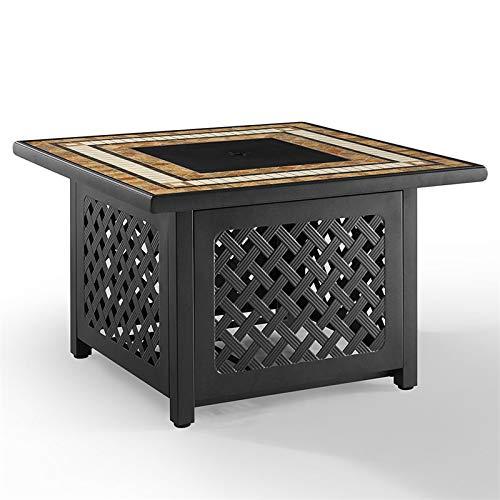 Crosley Furniture CO9011-BR Tucson Fire Table (Tucson Furniture Patio Outdoor)