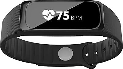 Striiv Fusion Bio Activity Smartwatch, Black/Red/Denim Blue, One Size
