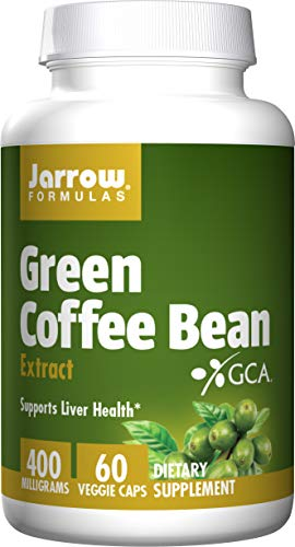 Jarrow Formulas Green Coffee Bean Extract, Supports Cardiovascular Health, 400 mg, 60 Capsules