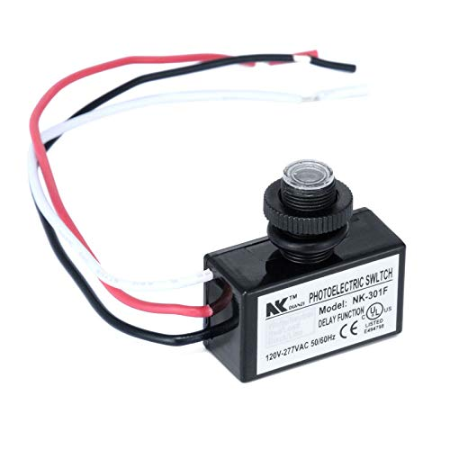 AC80~277V Flush Mount Photocell Switch Dusk to Dawn Button Photo Control Eye Switch for Lighting Accessories