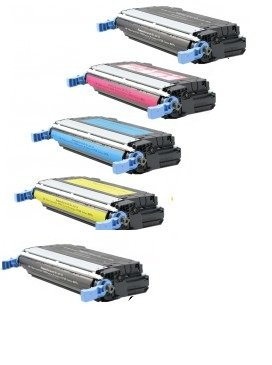 Top Tech Toners Compatible Toner Cartridge Replacement for HP 4700 (643A) ( Black,Cyan,Magenta,Yellow , 5-Pack )