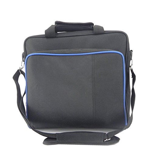 PlayStation Carrying Case, Sturdy Durable Portable Nylon Taffeta Travel Shoulder Bag Videogame Console Bag for PS4, PS4 Slim #81050