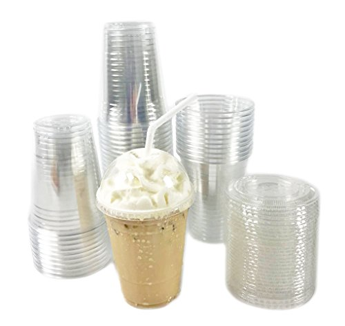Nice Black Cat Avenue50 Sets 16oz Crystal Clear Disposable PlasticPET Cups with Dome Lids For Milkshake, Smoothie, Boba Milk Tea, Iced Coffee, Frappe supplier