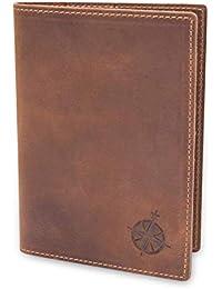 Leather Passport Holder Travel Wallet - RFID Blocking Genuine Leather Travel Wallet for Men and Women - Bifold Passport Wallet for Travel