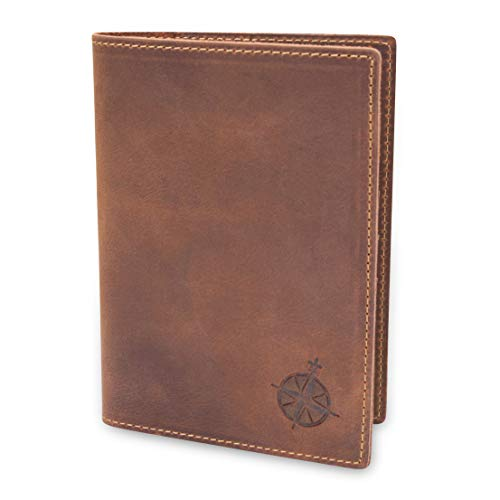 Passport Leather Holder - Leather Passport Holder Travel Wallet - RFID Blocking Genuine Leather Travel Wallet for Men and Women