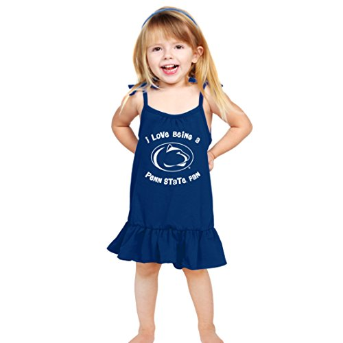 NCAA Penn State Nittany Lions Girls Strappy Dress, 4T, Navy