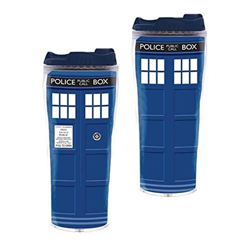 Doctor Who Travel Mug (Doctor Who Travel Coffee Mug - Dr Who TARDIS Insulated Tumbler Cup - 12 oz by Underground)