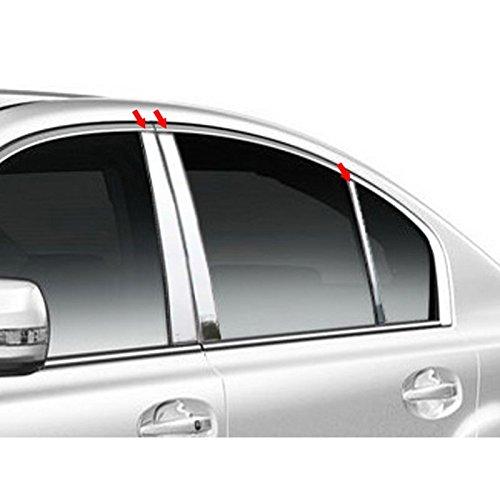 6pc. Luxury FX Stainless Steel Pillar Post Trim for 2010-2014 Subaru Legacy 4DR (Subaru Trim Chrome Legacy)