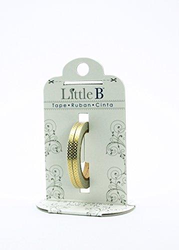 Little B 100403 Decorative Foil Paper Tape, Gold Honeycomb