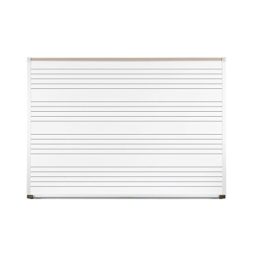 Balt Porcelain Markerboard with Music Lines, White, 120 x 48 (Line Markerboard)
