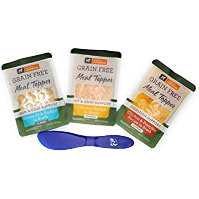 Simply Nourish Grain Free Dog Food Meal Toppers, 3 Ounce (Pack of 15) and Especiales Cosas Spatula