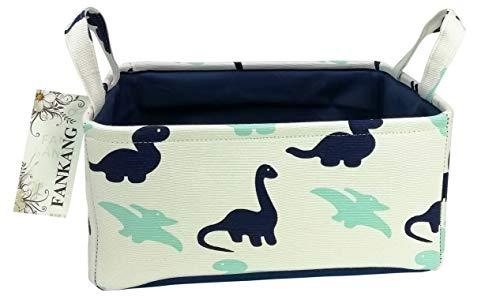 Rectangular Fabric Storage Bin Toy Box Baby Laundry Basket with Dinosaur Prints for Kids Toys and Nursery Storage, Baby Hamper,Book Bag,Gift Baskets(Dinosaur)