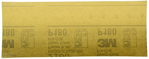 3M 02553 Production Gold 3-2/3'' x 9'' P180A Grit Resinite Sheet by 3M (Image #2)