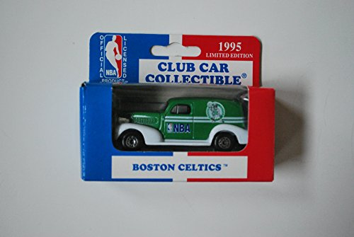 1995 Matchbox 1:64 Scale Model '39 Chevy Club Car Collectible - BOSTON CELTICS