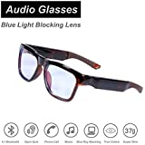 OhO sunshine Waterproof Audio Sunglasses,Fashionable Bluetooth Sunglasses to Listen Music and Make Phone Calls,UV400 Blue Light Blocking Lens Compatible with Prescription Lens