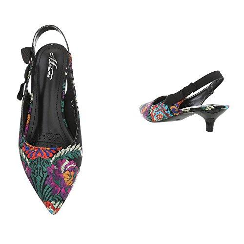 a B Scarpe Tacco Cinturino Ital Cono da col Nero Scarpe Tacco con 55 col Design Donna Tacco Multi Scarpe qq8nwfrT1