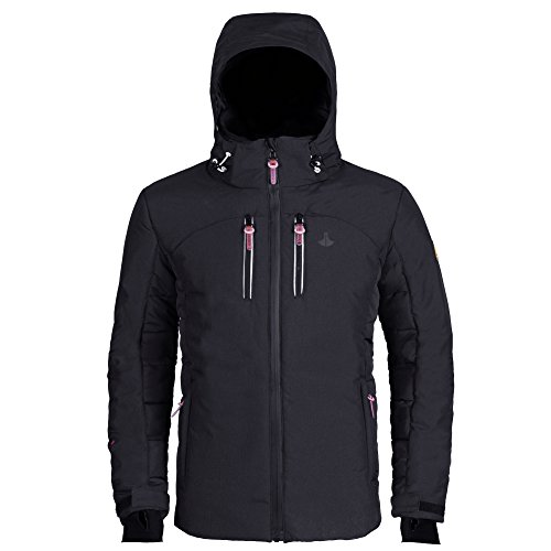 iKRR Men's Winter Fashion Sport Casual Design Outdoor Big and Tall Waterproof Lightweight Jacket Coat With Hoodie