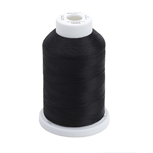 - Sulky Of America 268d 40wt 2-Ply Rayon Thread, 1500 yd, Black