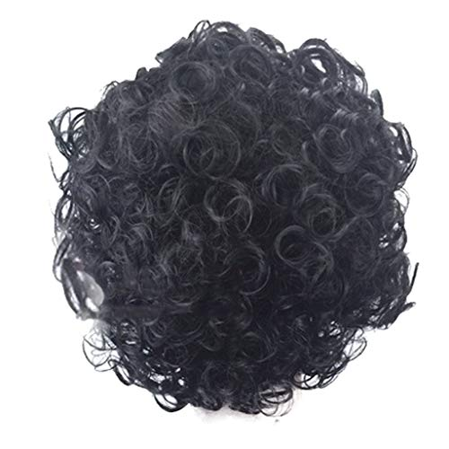 Gangglis Natural Sexy Wavy Curly Wig Wigs Black Fsahion Short Parting Women Synthetic ()