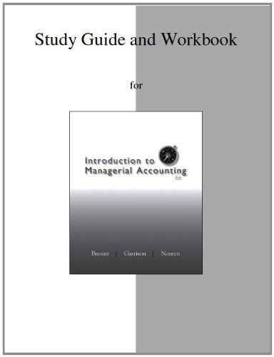 Study Guide/Workbook for Introduction to Managerial Accounting