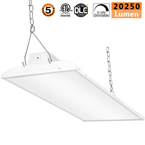 LED High Bay Light,135W 0-10V Dimmable [300W-450 Equivalent] 20250lm 5000K Daylight IP65 Waterproof Industrial Grade Warehouse Hanging Light Workshop Lamp cETLus Listed-135W-1Pack-L