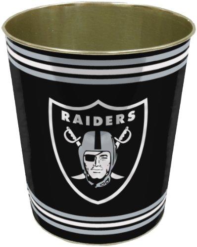 UPC 087918390775, NFL Oakland Raiders Metal Wastebasket