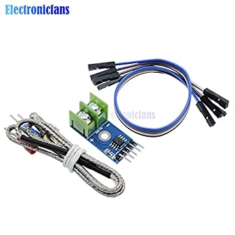 Fevas 2Pcs MAX6675 Thermocouple K-Type Temperature Sensor 0-800