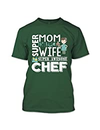 Mom Wife Awesome Chef T Shirt, Coolest Chef Mom T Shirt