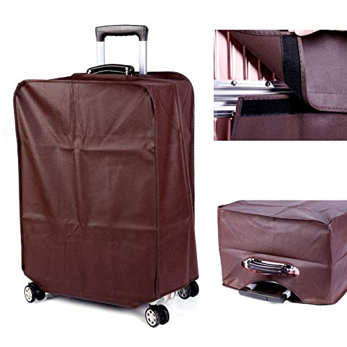Non-elastic Suitcase Cover Waterproof Luggage Cover,3 Colors,Fits 24 Inch,Brown by CXGIAE (Image #1)