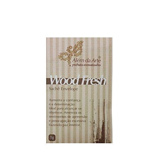 Sachê odorizante de wood fresh Além da Arte bege 3 g - 25636