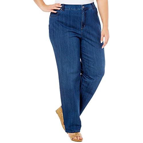 829fb8782ea 60%OFF Gloria Vanderbilt Women s Plus-Size Amanda Tapered Leg Jean Short  Length 28.5