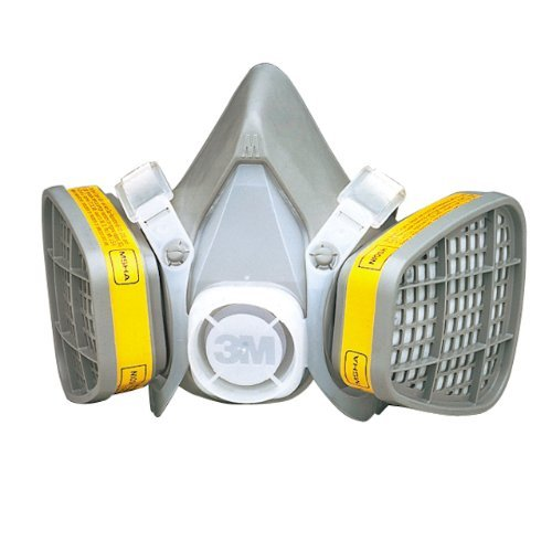 3M Safety 142-5303 Safety Half Facepiece Disposable Respirator Assembly, Organic Vapor/Acid Gas, Large by 3M Safety