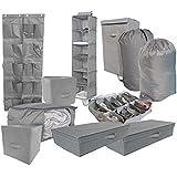 10PC Complete Organization Set - TUSK Storage - Gray