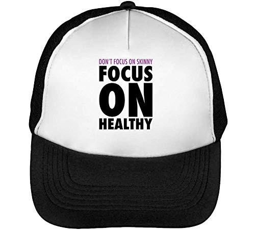 Gorras Healthy Hombre Focus Snapback Beisbol On Blanco Focus Negro On Don'T Skinny cw4YTpqXX