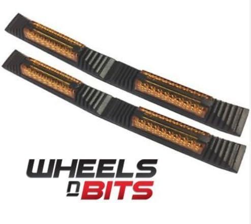 Wheels N Bits Citroen DS3 DS4 DS5 2x Door Edge Guard Strip Protectors With Amber Reflectors