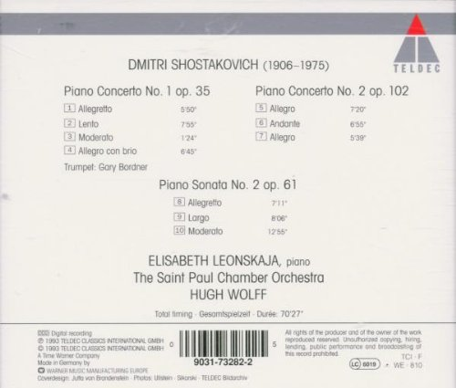 Shostakovich: Piano Concertos, Nos. 1 & 2 / Piano Sonata No. 2