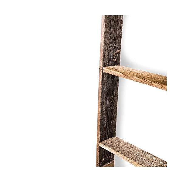 BarnwoodUSA Rustic Farmhouse Blanket Ladder - Our 5 ft Ladder can be Mounted Horizontally or Vertically and is Crafted…
