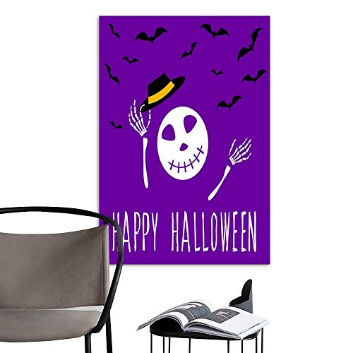 (Canvas Wall Art Painting Happy halloween card template Abstract halloween pattern for design card party invitation poster album menu t shirt bag print etc 6.jpg Nature Canvas Artwork Home Office)
