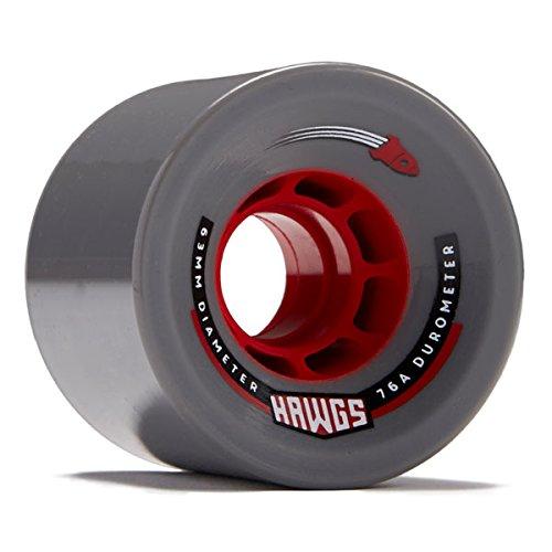 Hawgs Rocket Longboard Wheels - 63mm - 76a - Grey (Hawgs Longboard Wheel)