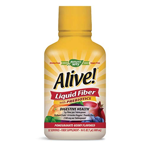 Nature's Way Alive! Liquid Fiber Pomegranate-Berry Flavor  32 servings 16 fl oz