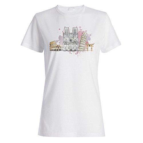 Rom Italien Reise Die Welt Lustige Neuheit Damen T-shirt a662f