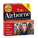 Airborne Immune Support Supplement – Very Berry – 36 Effervescent Tablets (3 Pack)